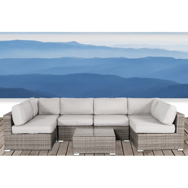 Deandra 7 Piece Sectional Set with Cushions by Sol 72 Outdoor