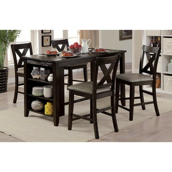 Dugas Rustic 5 Piece Pub Table Set by Gracie Oaks