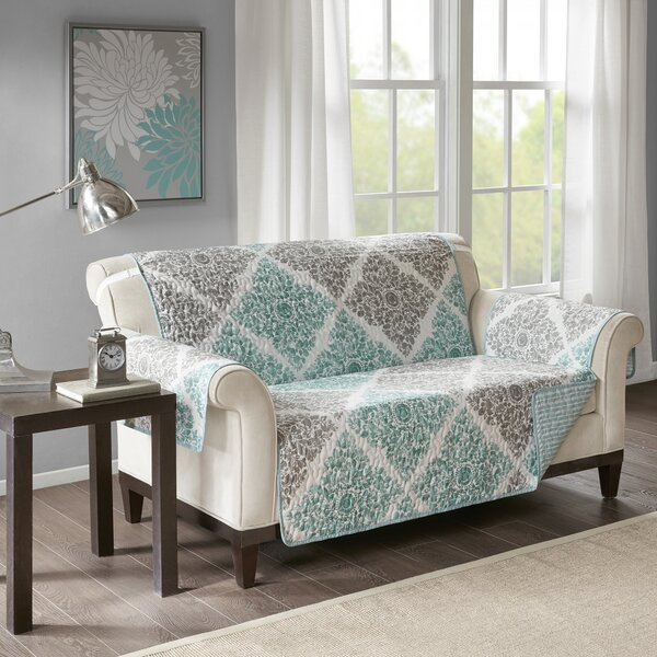 Box Cushion Loveseat Slipcover By August Grove