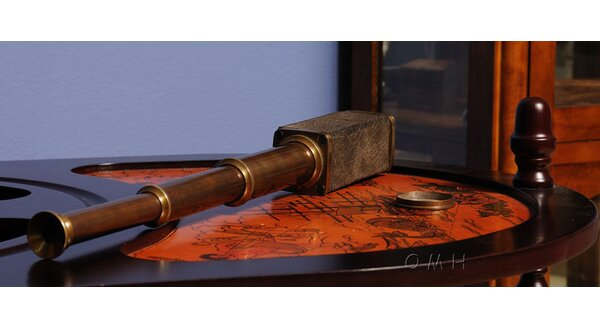 Square Handheld Decorative Telescope by Old Modern Handicrafts