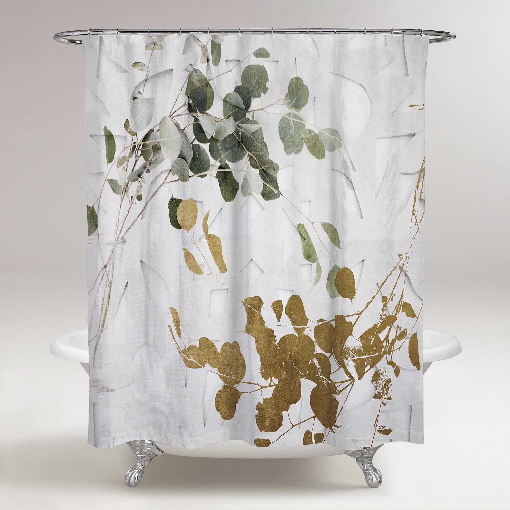 Loon Peak Rocheleau Leaves Shower Curtain