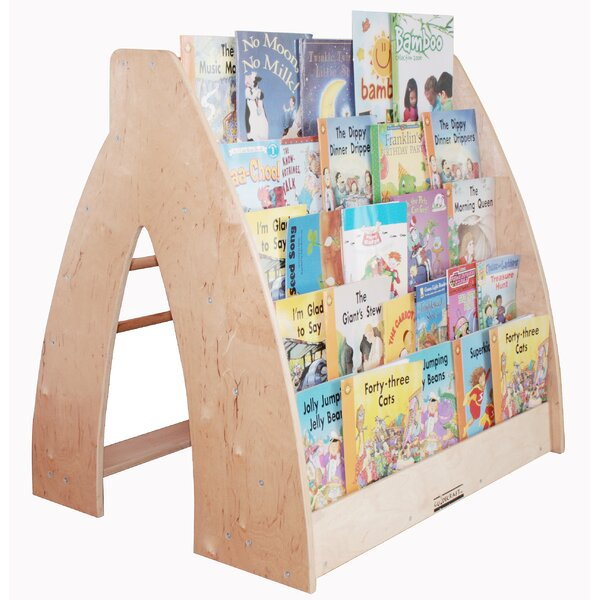 Traditional Book Display with Casters by A+ Child Supply