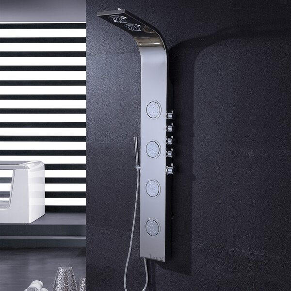 Pressure Balanced Massage Tower Shower Panel by Luxier