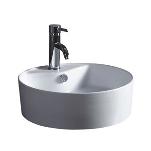 Reviews China Luxe Ceramic Circular Vessel Bathroom Sink ByWells Sinkware