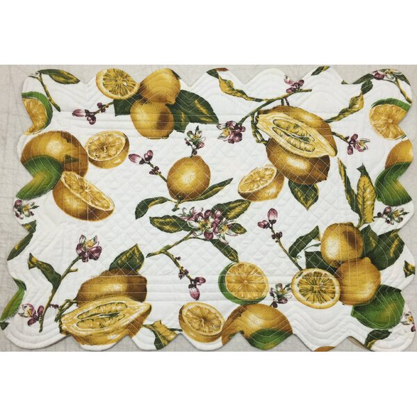 Lemon Reversible Placemat (Set of 6) by La Maisonnette