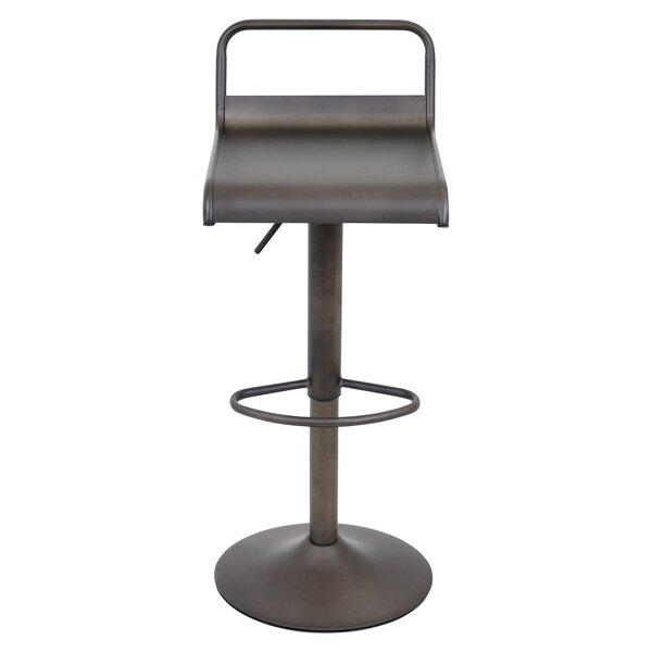 Willa Adjustable Height Swivel Bar Stool by Zipcode Design