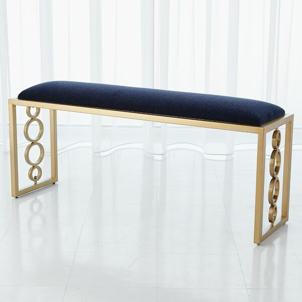 Progressive Ring Upholstered Bench by Global Views