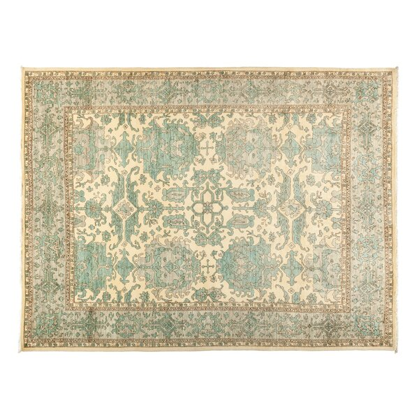 One-of-a-Kind Eclectic Hand-Knotted Blue Area Rug by Darya Rugs
