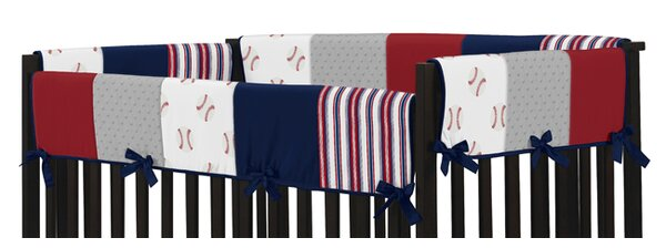 Baseball Patch 2 Piece Crib Rail Guard Cover Set by Sweet Jojo Designs