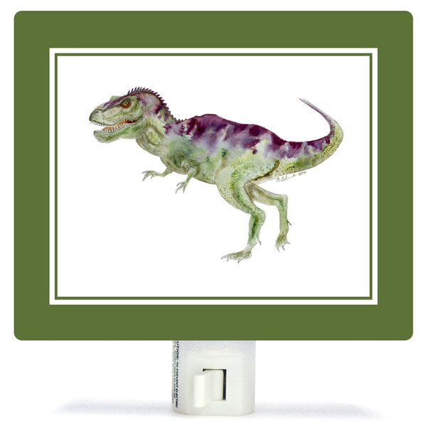 Dinosaur Portrait - T Rex by Brett Blumenthal Night Light by Oopsy Daisy