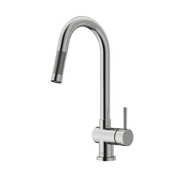 Gramercy Pull Down Single Handle Kitchen Faucet with Optional Soap Dispenser by VIGO