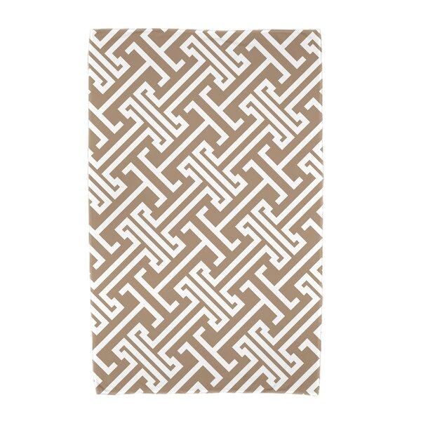 Hancock Leeward Key Geometric Print Beach Towel by Breakwater Bay