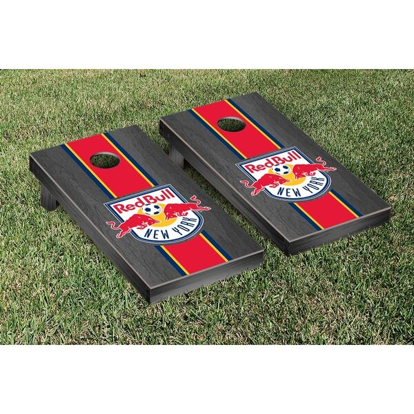 MLS Onyx Stained Stripe Version Cornhole Game Set by Victory Tailgate