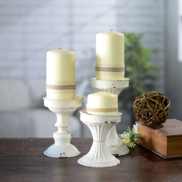 3 Piece Metal Candlestick Set by American Mercantile