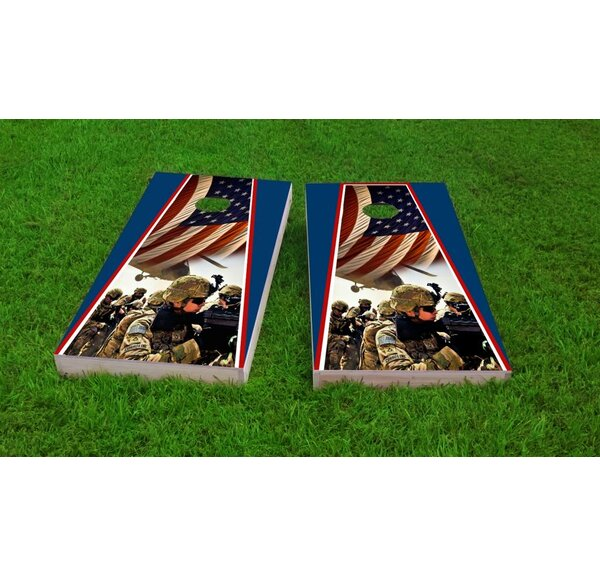 Armed Forces Cornhole Game Set by Custom Cornhole Boards