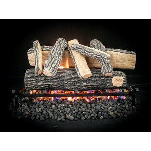 Complete Match Light Grand Oak Natural Gas Log Kit by Dreffco