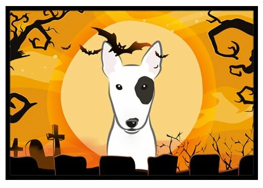 Halloween Bull Terrier Doormat by Caroline's Treasures