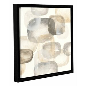Neutral Stones IV Framed Painting Print on Wrapped Canvas by Latitude Run