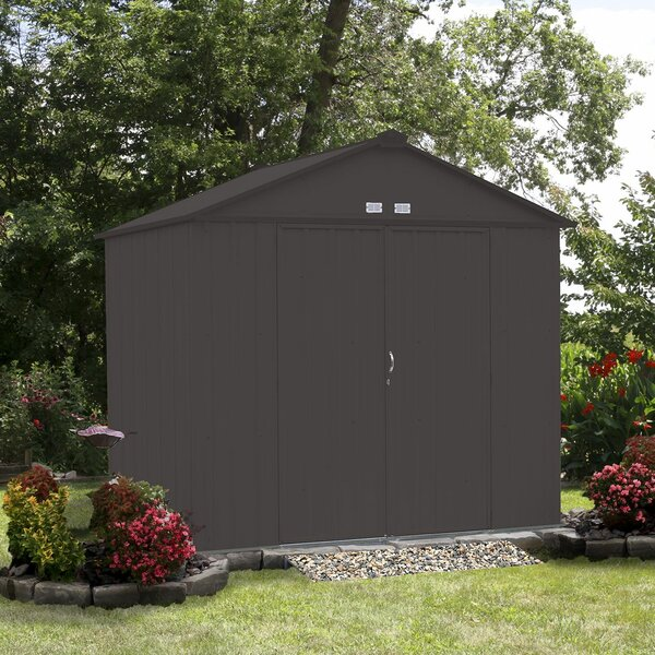 EZEE 7 ft. 10 in. W x 7 ft. 2 in. D Metal Storage Shed by Arrow