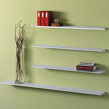 Envision® Aluminum Floating Wall Shelf by Peter Pepper