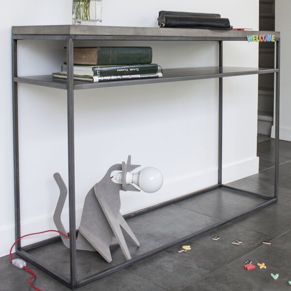 Perspective Console With Shelf By Lyon Beton