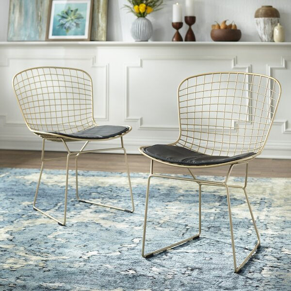 Merrimac Wire Upholstered Side Chair (Set of 2) by Wrought Studio