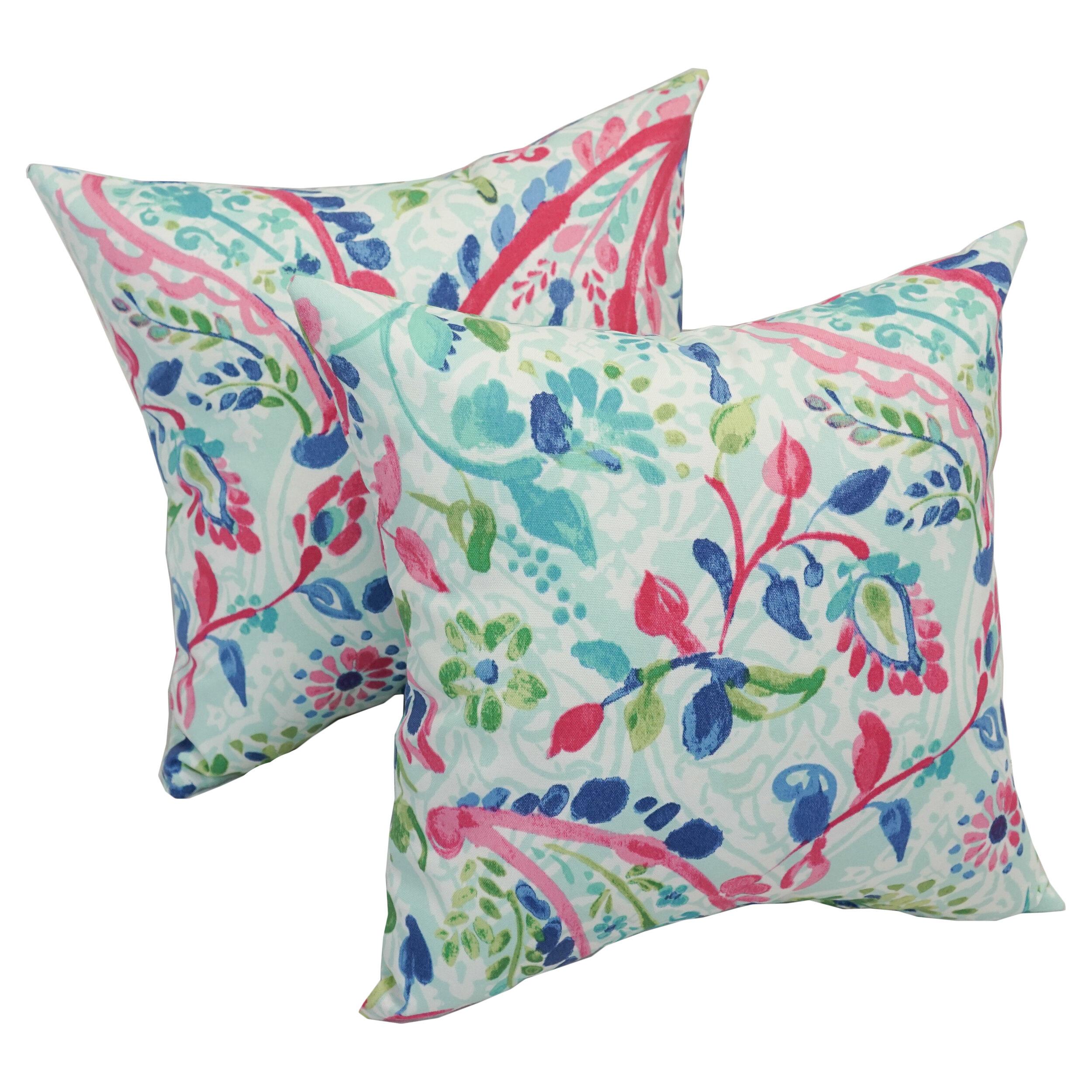 Bungalow Rose Pavel Paisley Outdoor Throw Pillow Wayfair