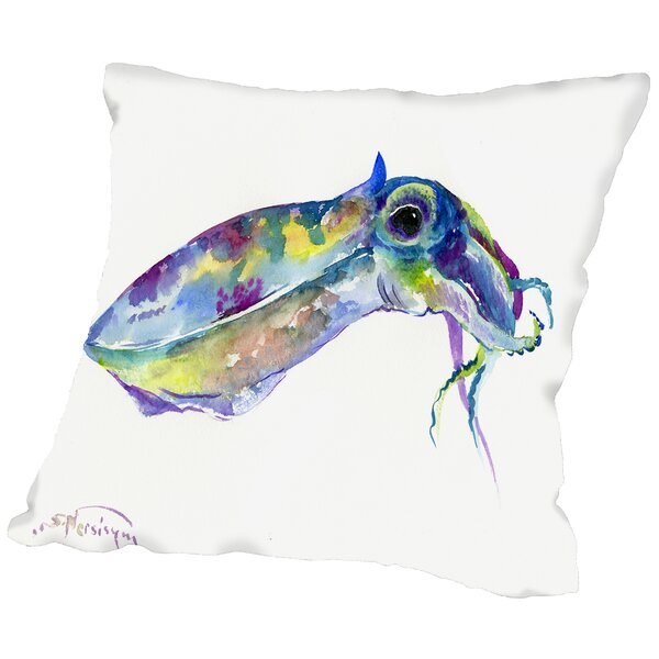 Squid Throw Pillow by East Urban Home