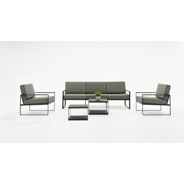 Brundidge Outdoor Sofa Seating Group with Cushions by Brayden Studio