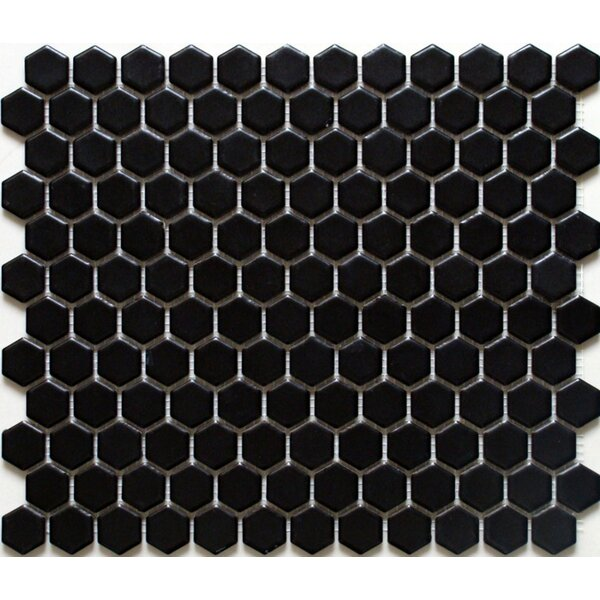 Value Series 1'' x 1'' Porcelain Mosaic Tile in Matte Black by WS Tiles