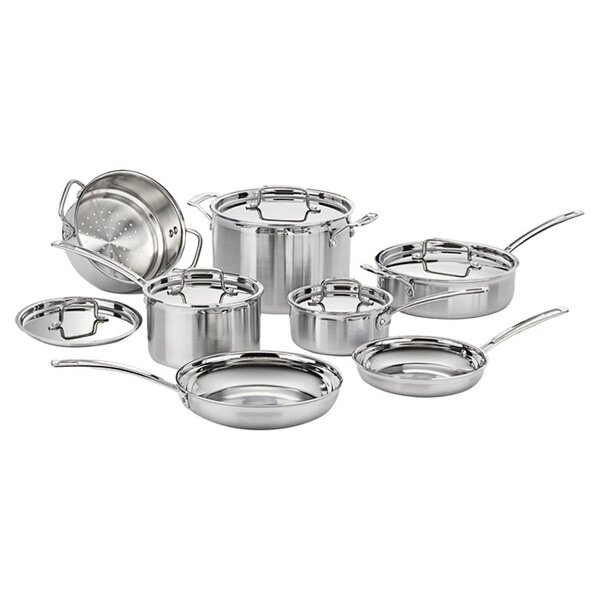 Multiclad Pro Stainless Steel 12-Piece Cookware Set by Cuisinart