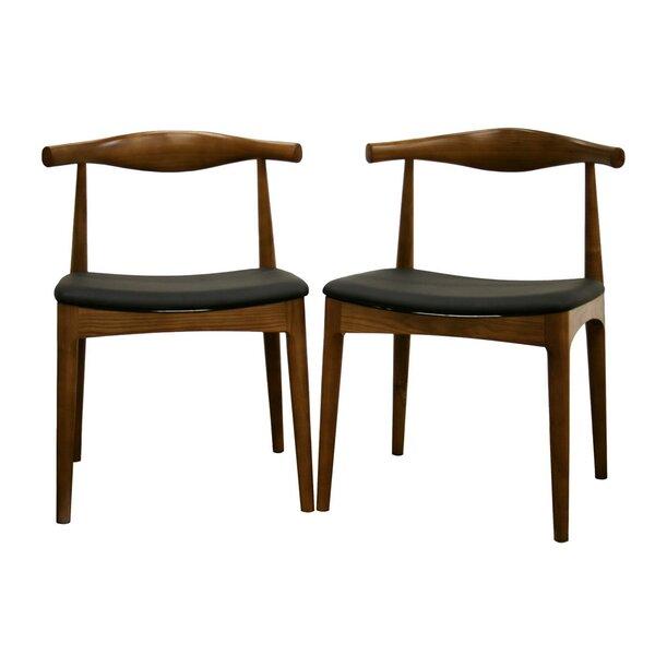 Simoneau Upholstered Slat Back Side Chair in Walnut (Set of 2) by Corrigan Studio Corrigan Studio