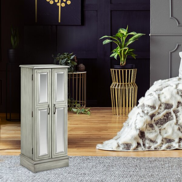 Terence Ellis Jewelry Armoire With Mirror by One Allium Way