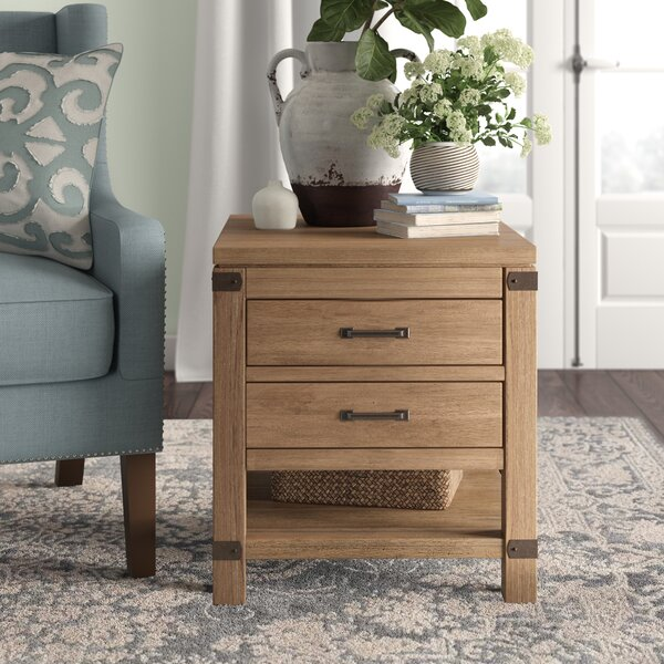 Emma End Table with Storage by Birch Lane™ Heritage