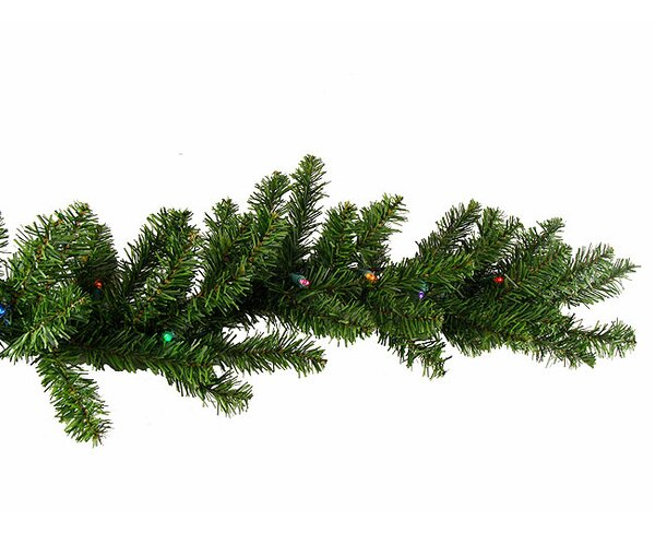 Pre-Lit Battery Operated Pine Artificial Christmas Garland by The Holiday Aisle