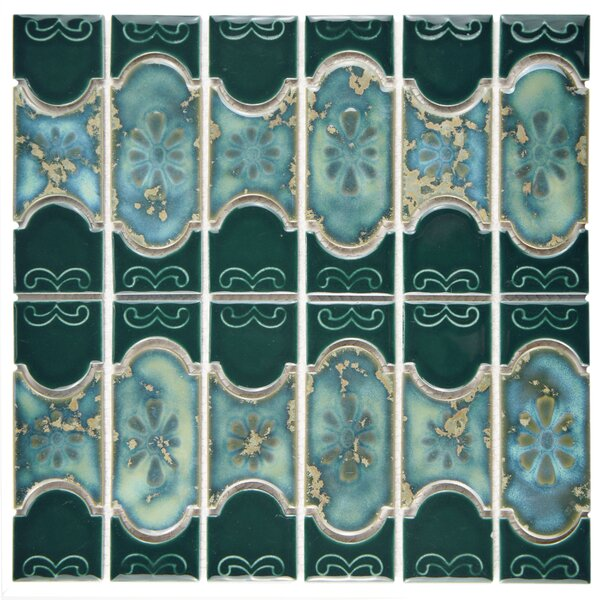 Mondego Porcelain Mosaic Tile in Emerald by EliteTile