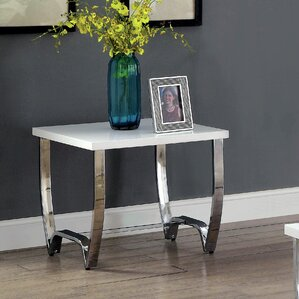 Aguayo Contemporary End Table by Everly Quinn