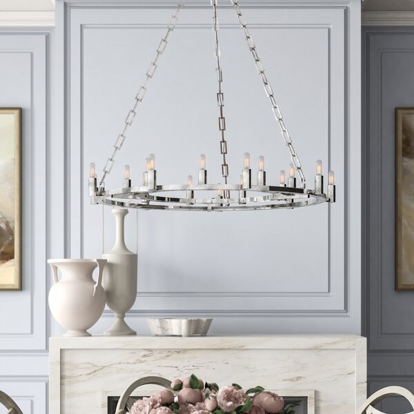 Kaylor 18-Light Candle Style Wagon Wheel Chandelier by ARTERIORS ARTERIORS