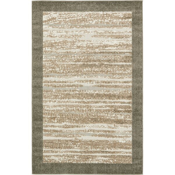 Bierce Brown Indoor/Outdoor Area Rug by Ebern Designs