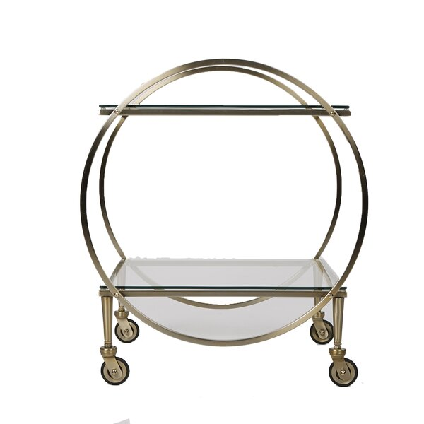 2 Tier Bar Cart by Mind Reader