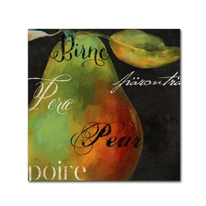 'Painted Pear I' by Color Bakery Graphic Art on Wrapped Canvas by Trademark Fine Art