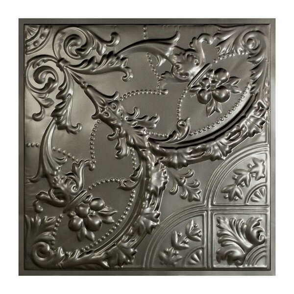 Saginaw 2 ft. x 2 ft. Lay-In Ceiling Tile in Argento (Set of 5) by Great Lakes Tin