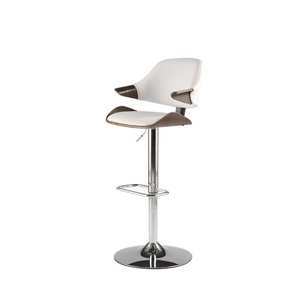 Dinh Adjustable Height Swivel Bar Stool by George Oliver