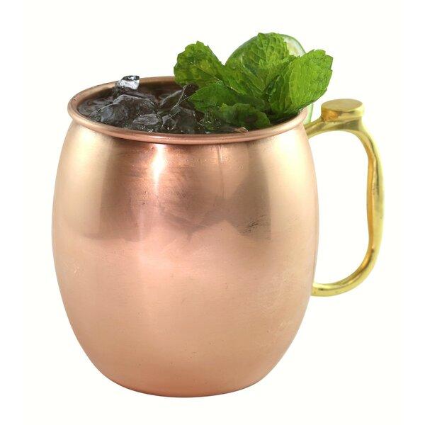 Culbreth Copper 30 oz. Mug with Brass Handle/Thumb Rest by Ebern Designs