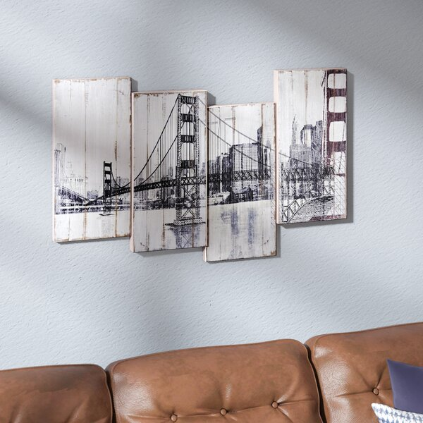 Golden Gate Bridge Painting on Wrapped Canvas by Trent Austin Design