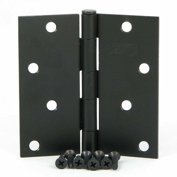4 H × 4 W Butt/Ball Bearing Pair Door Hinges (Set of 2) by Stone Mill Hardware