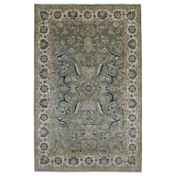 One-of-a-Kind Anjo Hand-Woven Wool Green/Beige/Blue Area Rug by Isabelline
