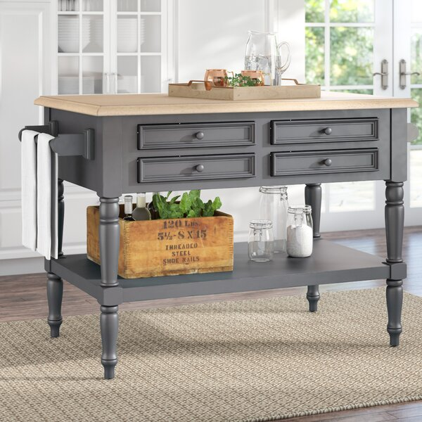 Kempwood Small Kitchen Island by Laurel Foundry Modern Farmhouse