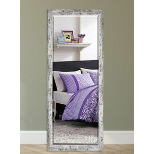 August Grove Wood Weathered Farmhouse Accent Wall Mirror