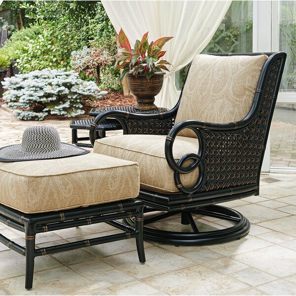 Marimba Swivel Rocker Lounge Patio Chair with Cushion by Tommy Bahama Outdoor